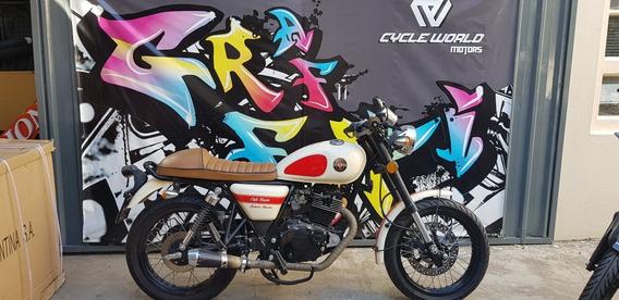 Moto Gilera Vc 200 Cafe Racer 2016 Impecable Consulte Cuotas