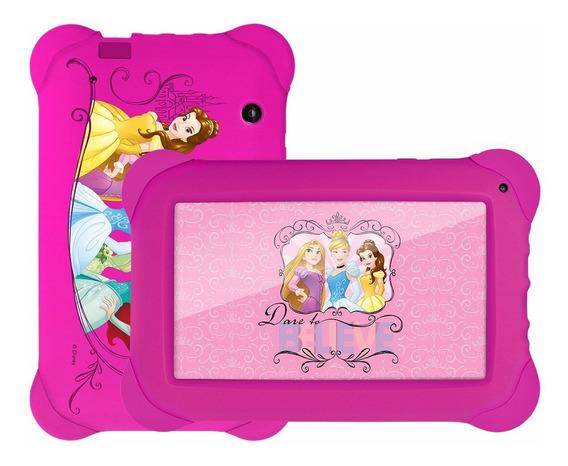 Tablet Rosa Infantil Princesas Jogos Multilaser Wifi Nb239