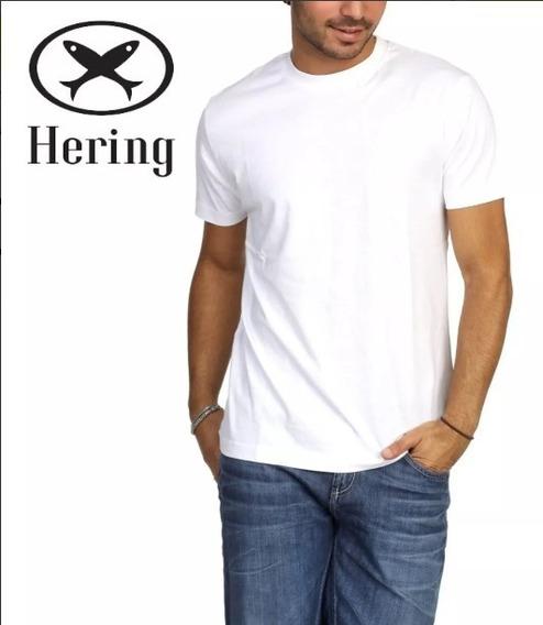 Kit Camiseta Hering Combo 4 Peças Manga Curta Original - Com Nfe