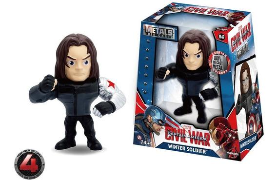 Winter Soldier Figura De Metal 10cm Jada Die Cast