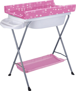 Bañito Baño Bañera Para Bebé Con Cambiador - Pie Plegable