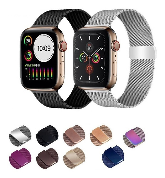 Pack 2 Correas Milanese Apple Watch 38 40 42 Y 44 Mm