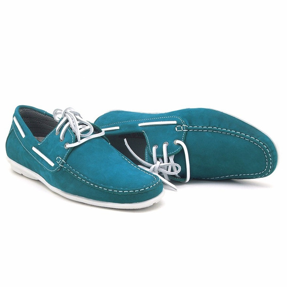 Sapato Drive Casual Atronshoes - 572 - Azul Turqueza