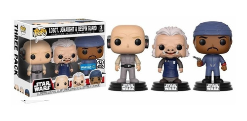 Lobot, Ugnaught Y Bespin Guard Funko Pop 3-pack Exclusivo