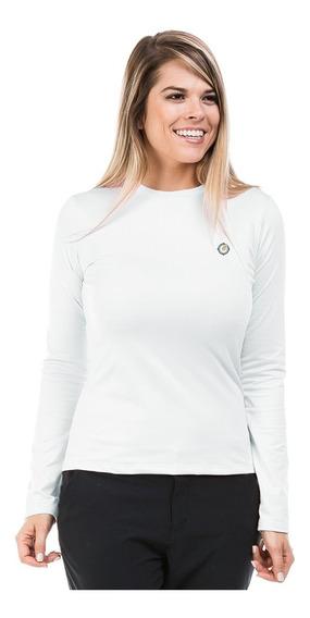 Camisa Feminina Térmica Peluciada Com Proteção Solar Fpu50+