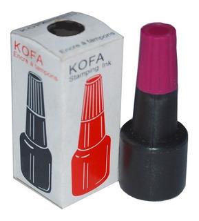 Dispensador De Tinta Para Almohadilla Kofa Azul, Rojo, Negro