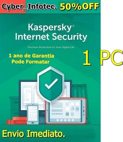 Kaspersky Internet Security- 1 Pc -1 Ano- Envio De Imediato.