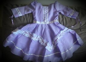 Vestido De Prenda 1 Ano Para Bebê - Vestidinho
