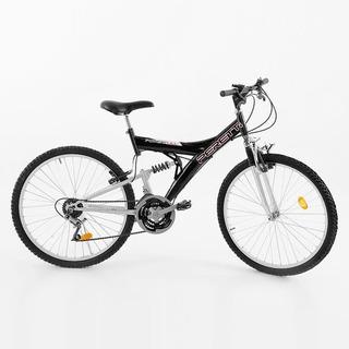 Bicicleta Mtb Peretti Doble Suspensión Rodado 26 21 Vel.
