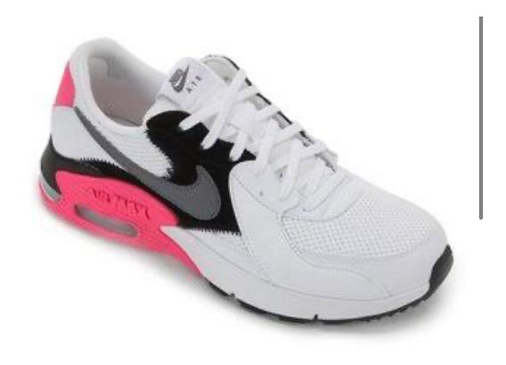 Tênis Casual Masculino Nike Air Max Branco/pink