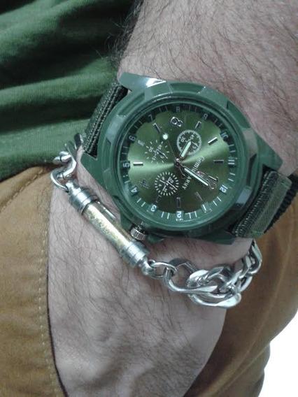 Relógio Masculino Militar Gemiur Army Resistente A Água