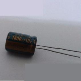 Capacitor Eletrolítico 1800uf 10v 105º 10 Peças Em Estoque