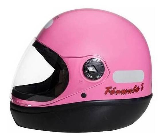 Capacete para moto integral San Marino Classic rosa tamanho 56