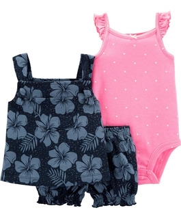 Set Body Musculosa Short Y Blusa Carter´s Talle 24 Meses