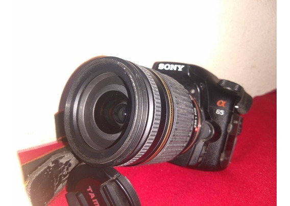 Sony A65 Bolsa Cartão De Memória Lente Tamron 18-250