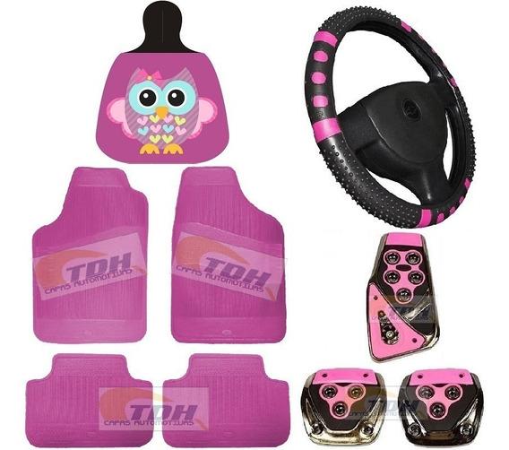 Kit Acessórios Carro Feminino Rosa - Lançamento