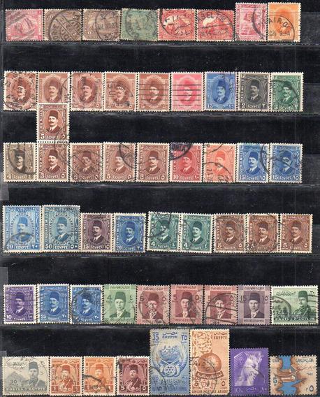Egipto 1879/1964. Pequeño Lote De 53 Sellos Usados