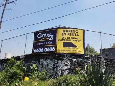 Carretera Picacho Ajusco Terreno En Renta