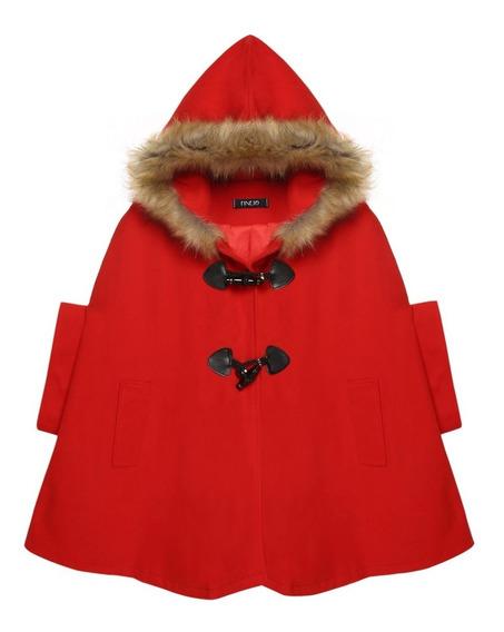 Capa Abrigo Poncho Moda Importada Japonesa Rojo Nuevo