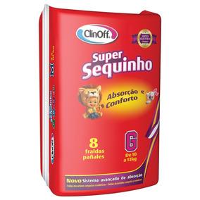 Fralda Infantil Clin Off C/8 Super Sequinho Gd
