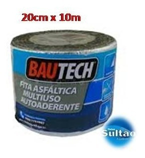Imagem 1 de 2 de Manta Asfáltica Aluminizada Auto Adesiva Bautech 10mx20cm