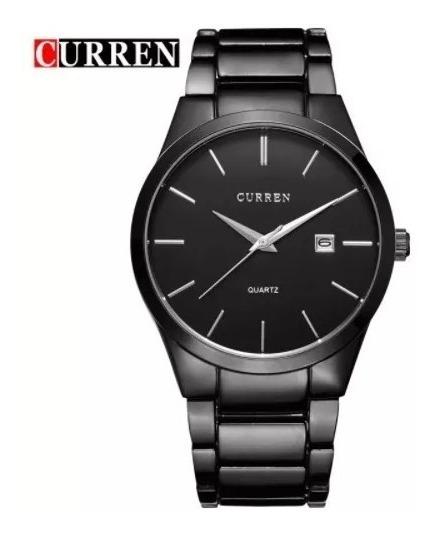 Relógio Curren Original Masculino Pulseira Aço 8106