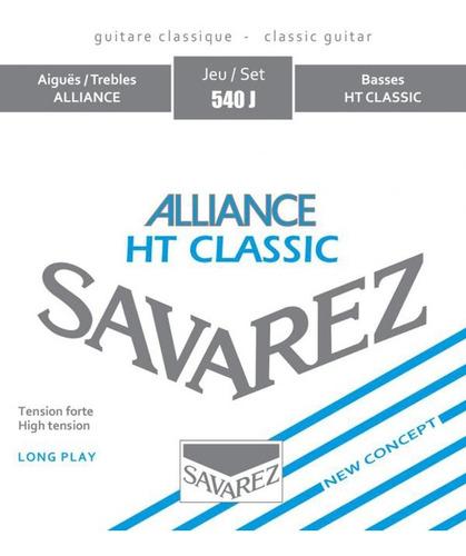 Encordado Para Guitarra Criolla Tension Alta Savarez 540j