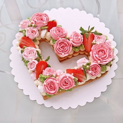 Torta Corazón,torta Letra, Torta Numero, Catering Dulce