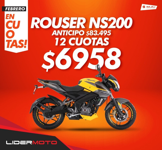 100 % Financiada Baja Rouser Ns 200 Lidermoto