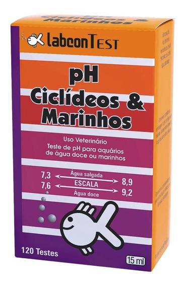 Teste De Ph Ciclídeos E Marinhos Alcon Labcon Faz 120 Testes