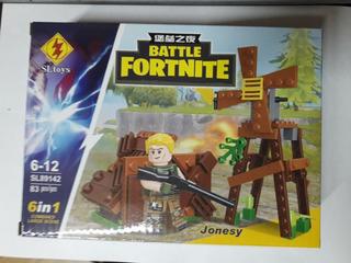 Set Fortnite Battle Figura+accesorios Simil Lego St Toys