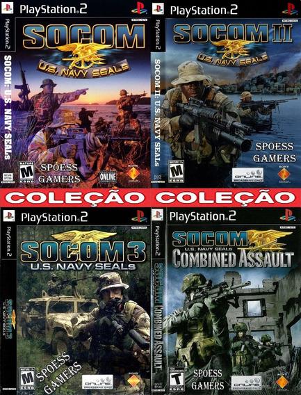 Socom Ps2 ( Tiro ) Coleção (4 Dvds) Patch Leve 4 Pague 3