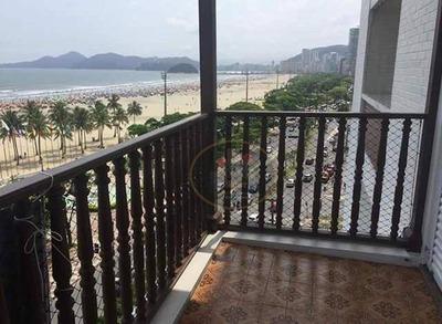 Apartamento Com 3 Dormitórios À Venda, 156 M² Por R$ 1.150.000 - Gonzaga - Santos/sp - Ap4007