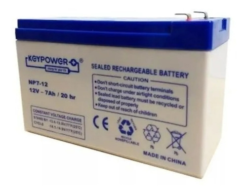 Bateria Gel Recargable 12v 7ah 7a Ups Luz Emergencia