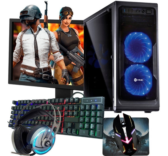 Pc Gamer I5 Completo Monitor 22 - 8gb / Geforce 2gb Dvd-rw