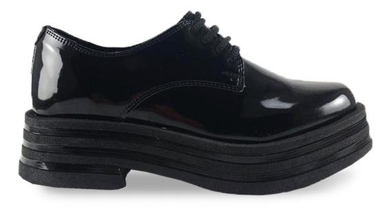 Zapato Simil Charol Plataforma 4,50 Cm Base Liviana Art Zr50