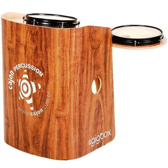 Mini Bateria Tajon Bateron Gig Box Cajón Percussion Mogno