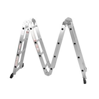 Escalera Aluminio 4x4 Articulada Plegable Multifuncion Daewoo Reforzada 150kg Espesor 1,2mm Envio