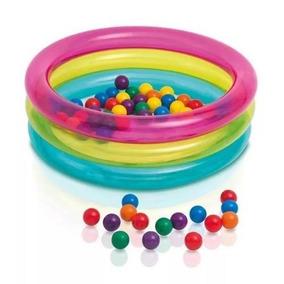 Piscina Inflável Infantil 50 Bolinhas Intex - Multi Colorido
