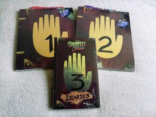Diarios De Gravity Falls 1,2 Y 3 + Pluma Uv+ Regalo