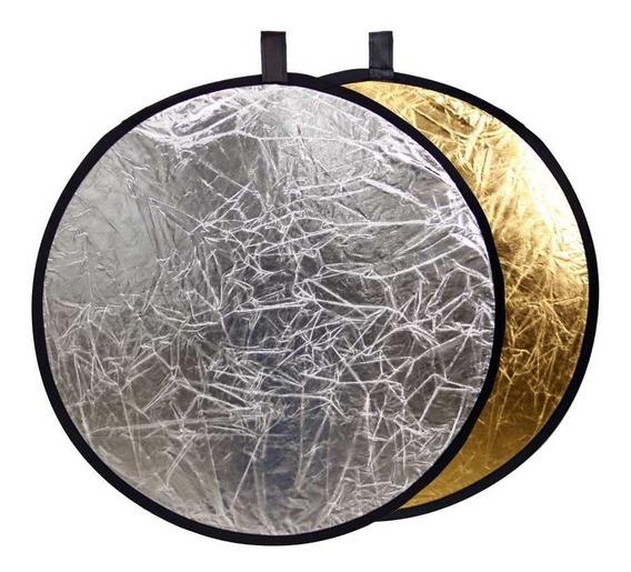 Rebatedor Fotográfico Refletor Prata E Dourado 60cm + Barato