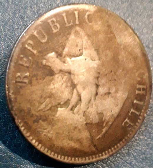 Moneda Chile 1 Peso Plata Pa Botón De Rastra 35 Mm 20 Gr.