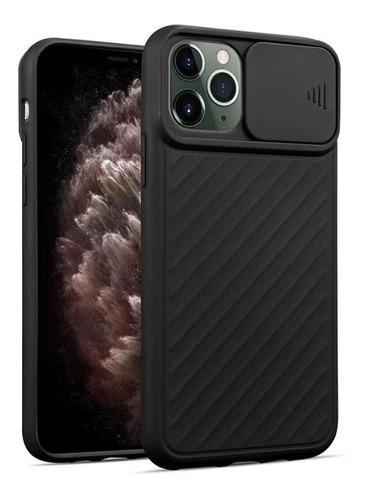 Capa Com Proteção De Lente P/ Apple iPhone 11 Pro Max -preta