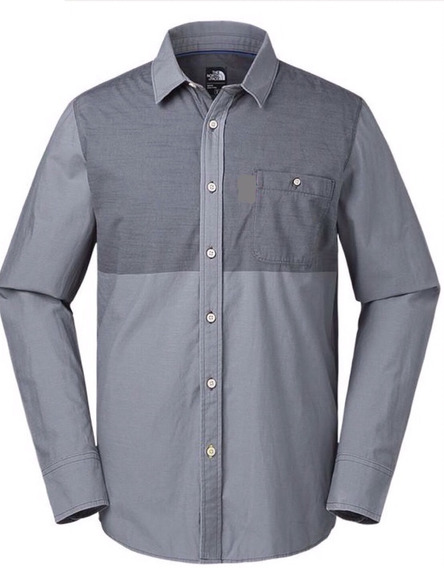 Camisa The North Face M L/s Block Me Shirt Asphalt Grey