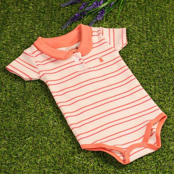 Body Tipo Polo Para Bebê Menina