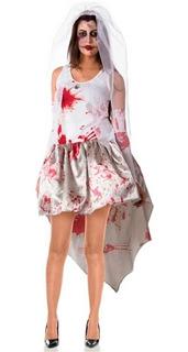 Fantasia Halloween Noiva Cadaver Emily Adulto Feminino C/véu