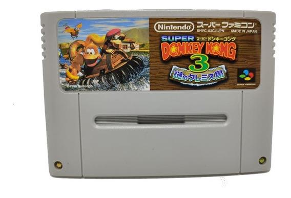 Cartucho Donkey Kong 3 Original Snes Super Nintendo Japonês