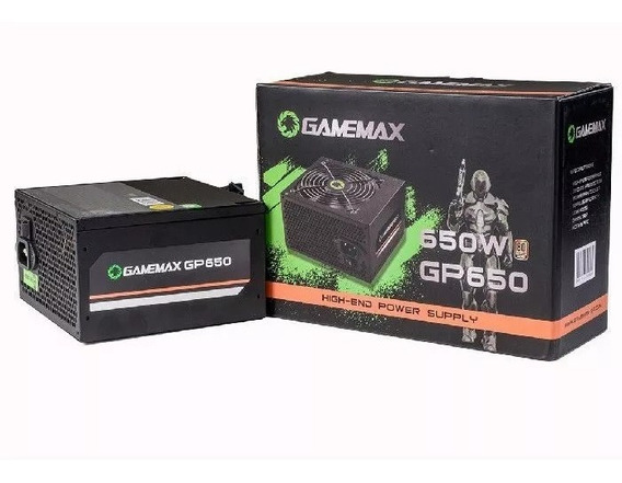 Fonte Gamer Gamemax Gp650 650w 80 Plus Bronze Com Cabo