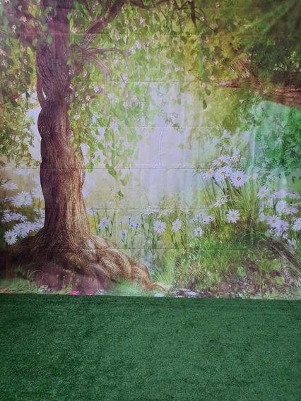 Cenário Floresta Fundo Para Fotos 3 X 6 Metros