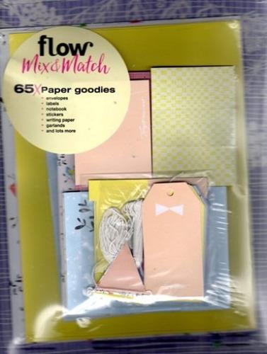 Flow Mix & Match  - Cartões,etiquetas E  Mini-caderno